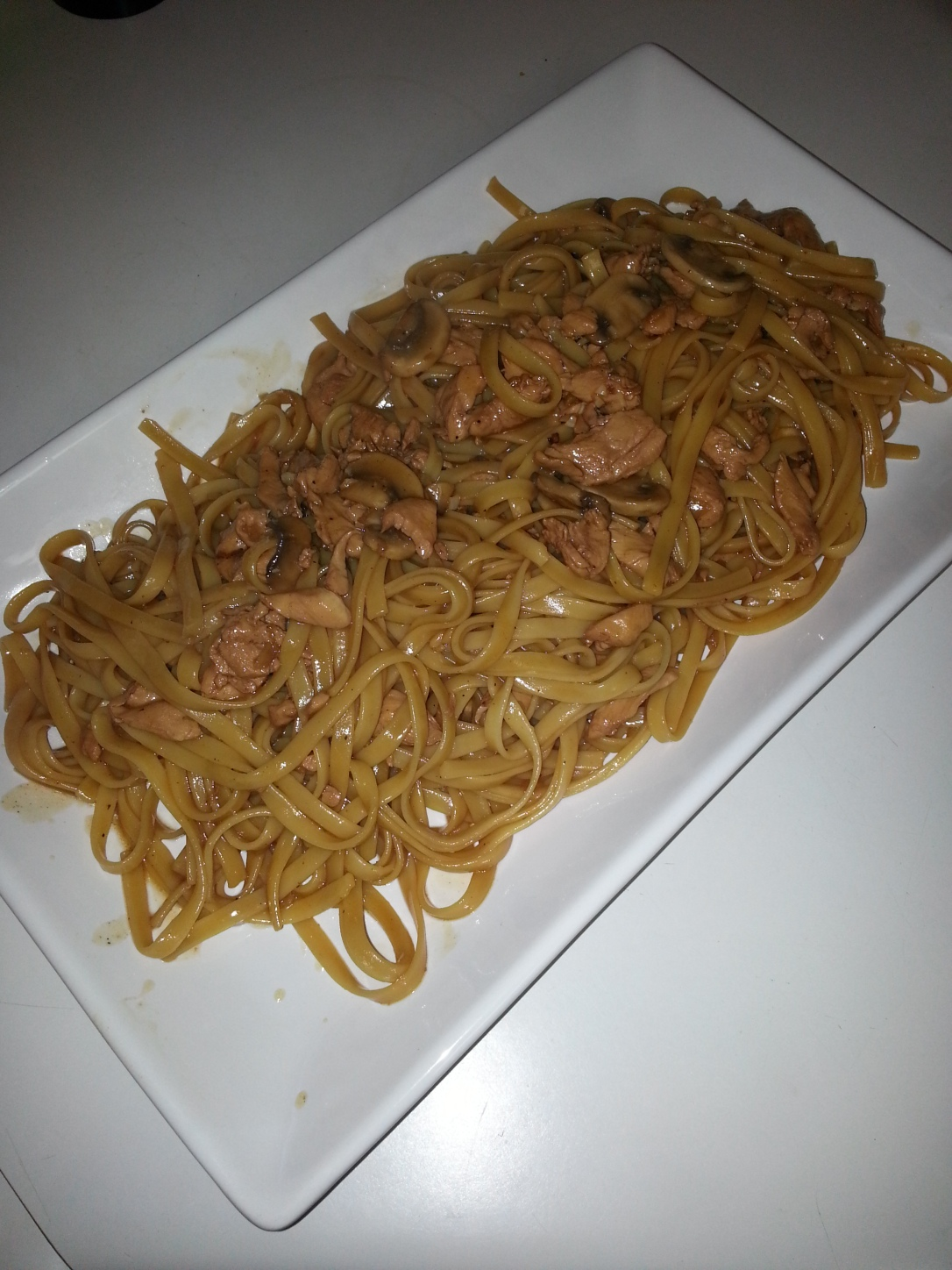 The final product.  Chicken lo Mien.  Yum.  Thanks Carter!